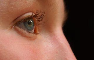 blue eye watching